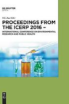 Proceedings from the ICERP 2016 - International Conference on Environmental Research and Public Health