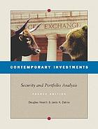 Contemporary investments : security and portfolio analysis