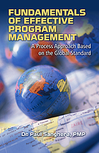 Fundamentals of effective program management : a process approach based on the global standard