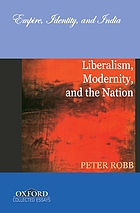 Liberalism, modernity, and the nation