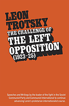 The challenge of the Left opposition
