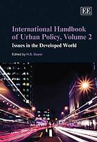 International handbook of urban policy. Volume 2, Issues in the developed world