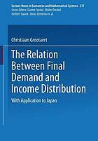 The relation between final demand and income distribution, with application to Japan