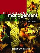 Restaurant management : customers, operations, and employees