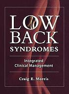 Low back syndromes : integrated clinical management