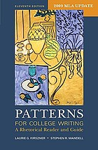 Patterns for college writing : a rhetorical reader and guide