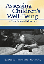 Assessing Children's Well-Being: A Handbook of Measures cover image