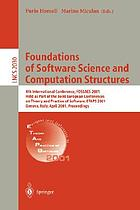 Foundations of software science and computation structures : 4th international conference ; proceedings