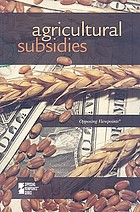 Agricultural subsidies