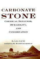 Carbonate stone : chemical behavior, durability, and conservation
