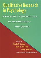 Qualitative research in psychology : expanding perspectives in methodology and design