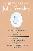 The works of John Wesley/ 24 : Journal and diaries ; 7, (1787 - 91) / d. by W. Reginald Ward ..