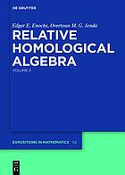 Relative homological algebra