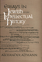 Essays in Jewish intellectual history