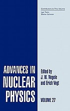 Advances in nuclear physics Vol. 27