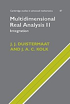Multidimensional real analysis II : integration.