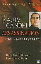The Rajiv Gandhi assassination