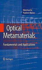 Optical metamaterials : fundamentals and applications