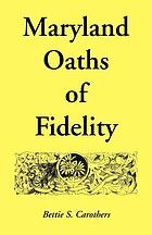 Maryland oaths of fidelity