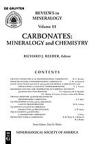 Carbonates : mineralogy and chemistry