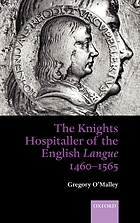 The Knights Hospitaller of the English langue, 1460-1565