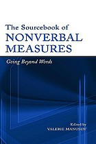 The sourcebook of nonverbal measures : going beyond words