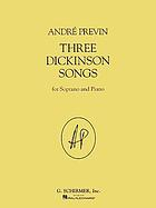 Three Dickinson songs : for soprano and piano