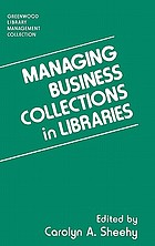 Managing business collections in libraries