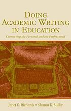 Doing academic writing in education : connecting the personal and the professional