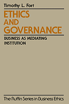 Ethics and governance : business as mediating institution