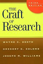 The Craft of Research.