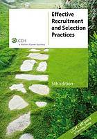 Effective recruitment & selection practices