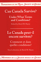 Can Canada survive? : under what terms and conditions?