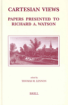 Cartesian views : papers presented to Richard A. Watson