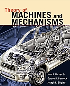 Theory of machines and mechanisms