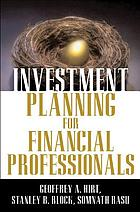 Investment planning for financial professionals