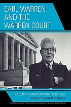 Earl Warren and the Warren Court : the legacy in American and foreign law