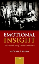 Emotional insight : the epistemic role of emotional experience
