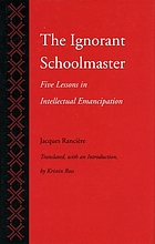 The ignorant schoolmaster : five lessons in intellectual emancipation