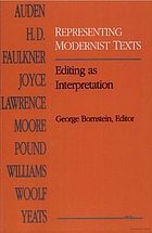 Representing modernist texts : editing as interpretation