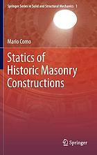 Statics of historic masonry constructions