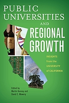 Public universities and regional growth : insights from the University of California