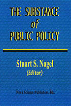 The substance of public policy