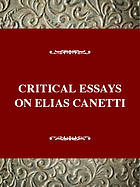 Critical essays on Elias Canetti