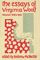 The essays of Virginia Woolf. / vol. III, 1919-1924