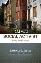 I am not a social activist : making Jesus the agenda