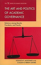 The art and politics of academic governance : relations among boards, presidents, and faculty
