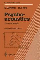 Psychoacoustics : facts and models