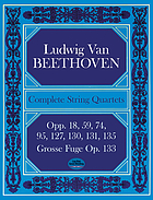 Complete string quartets and Grosse Fuge from the Breitkopf & Härtel complete works edition.