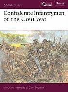 Confederate infantrymen of the Civil War